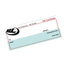 Example gift certificate